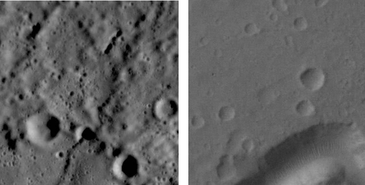 Surface craters image