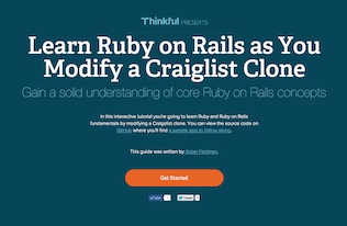 Ruby rails by tutorial on example learn download rails